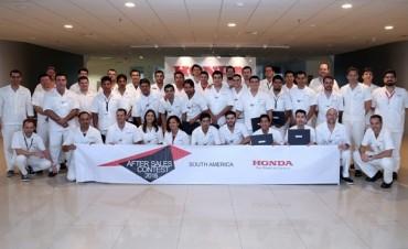 UN TÉCNICO DE SERVICIO DE LA RED DE HONDA MOTOR DE ARGENTINA  SE CONSAGRÓ COMO EL MEJOR DE HONDA EN SUDAMÉRICA