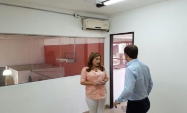 El Intendente visitó el lugar donde funcionará el Centro de Impresiones de Licencia de Conducir