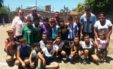 El Municipio acompañó un torneo de fútbol infantil
