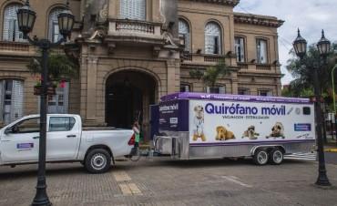 El quirófano móvil estará la próxima semana en la plaza Eduardo Costa