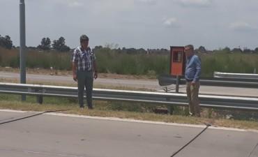Axel Cantlon y Carlos Gomez visitaron el lugar donde ubucaria el peaje en ruta 6