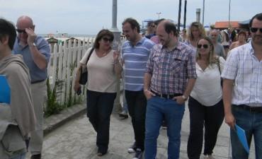 Giri relevó playas con concejales y Defensoría del Pueblo