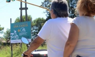 Desde el municipio intensifican una campaña para exigir el uso del casco en los motociclistas