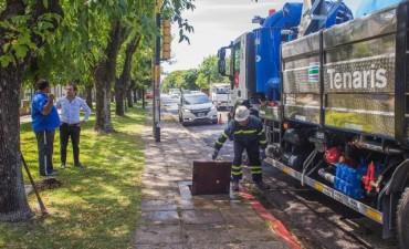 La limpieza de desagües pluviales continúa por Mitre