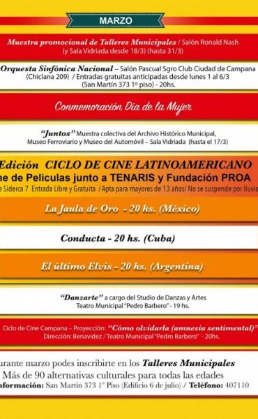 """""""Cultura que Suena"""": La Agenda Municipal de Marzo ofrece nuevas propuestas a la Comunidad"""