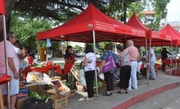 Este martes los productores locales estarán en la plaza 1º de Mayo