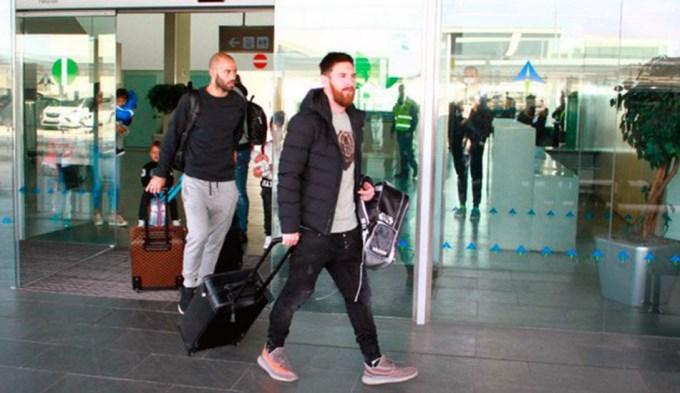 Messi, Mascherano y Enzo Pérez llegaron en silencio