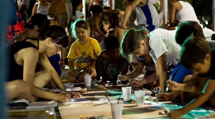 Última jornada del Camping Artístico en la Plaza Eduardo Costa