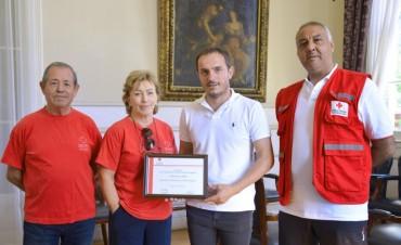 Abella fue reconocido como socio honorario de la Cruz Roja Filial Campana