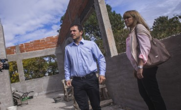 El Intendente visitó la Escuela Secundaria N°17 para constatar el avance de las obras