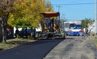 Tras gestiones del Intendente, se pudo comenzar la repavimentación de la calle Modarelli
