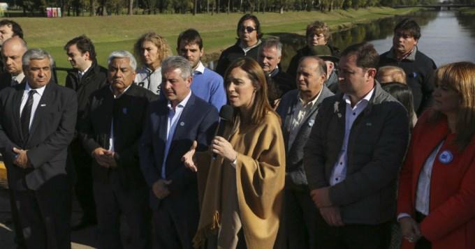 Vidal presentó millonario plan de obras por inundaciones