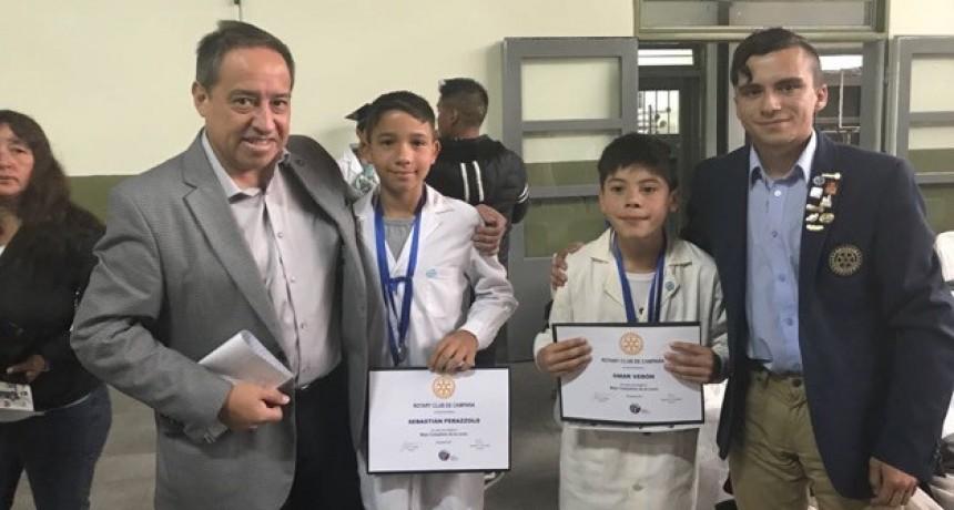 ROTARY CLUB CAMPANA                                       INICIO DE PAGO DE BECAS  2018  Y RECONOCIMIENTO A ALUMNOS DE ESCUELAS PRIMARIAS DE CAMPANA