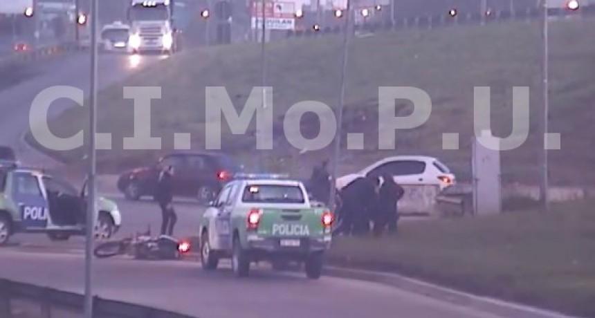 Gracias a las cámaras del CIMoPU detuvieron a un motochorro en un operativo cerrojo