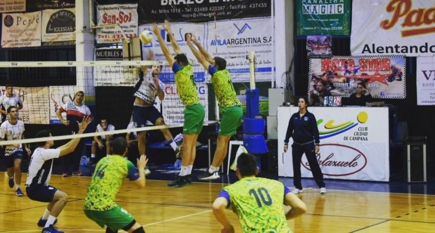 Ciudad de Campana venció a Náutico Hacoaj y sumò su sexta victoria consecutiva