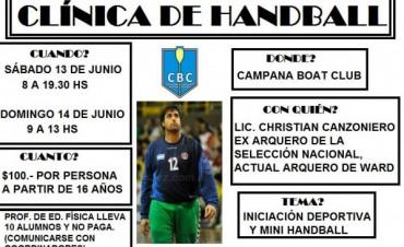 Christian Canzoniero dará una clínica en Campana Boat Club