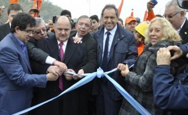 """Junto a Scioli, Giroldi participó de la inauguración de obras del """"Sistema Integrado de la Nueva Autovía 6"""""""