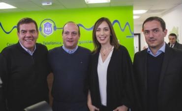 Vidal inauguró en Campana el nuevo Centro de Atención Telefónica 911