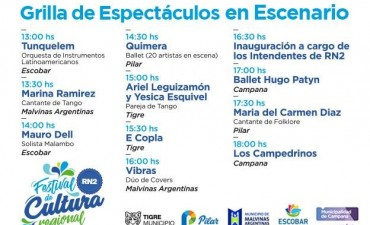 Festival de Cultura Regional: detallan el cronograma de actividades