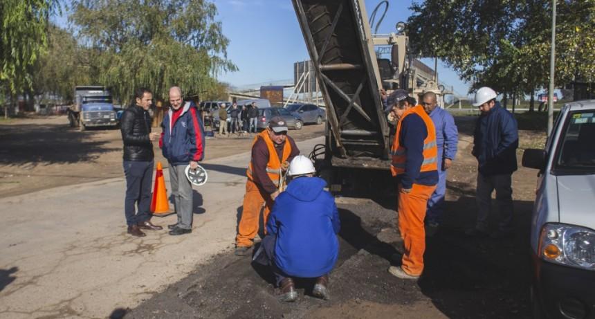 Otamendi: comenzaron los trabajos para la repavimentación de la calle Cordero