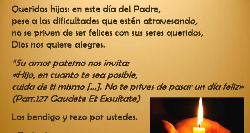 Mons. Pedro Laxague - Obispo de Zárate-Campana - y su mensaje a todos los padres