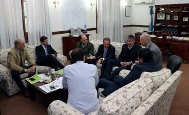 Abella participó de un encuentro con el ministro Ferrari