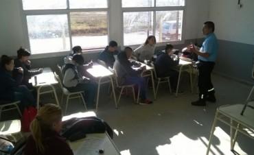 Se dictó una charla de Educación Vial en la Escuela Nº 10 de San Cayetano
