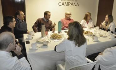 El Intendente se reunió con miembros del Colegio de Ópticos de Campana