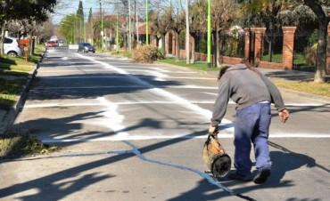 El Municipio realizó nuevas obras de mantenimiento y tomado de juntas en calle Castelli