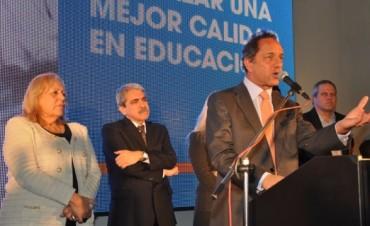 El Gobernador Scioli estuvo presente en la inauguración de la nueva Escuela Técnica Nº 2