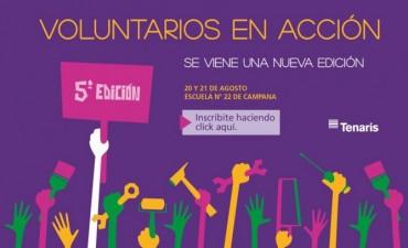 Se viene la 5ta edición de Voluntarios en Acción del departamento de Desarrollo Social de Tenaris