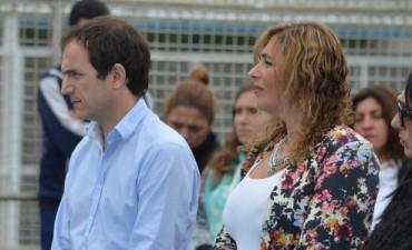 El Intendente compartió el acto por el fallecimiento de San Martín de la EP Nº16
