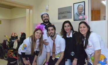 Voluntarios de Honda y autoridades municipales compartieron una divertida mañana con los chicos en el Hospital