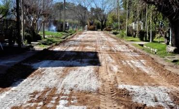 Avanzan las obras de pavimentación en el barrio 9 de Julio