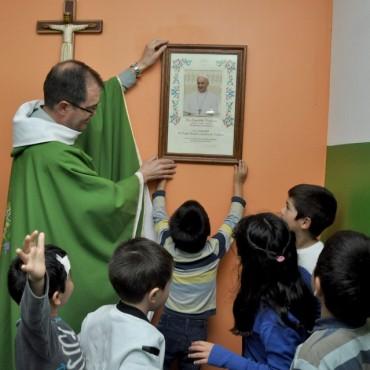 Sergio Roses visitó el Hogar Nuestra Señora de Lourdes
