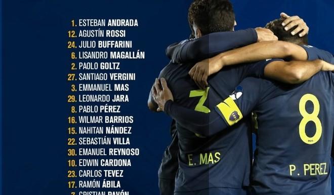 Concentrados de Boca Juniors para recibir a Libertad de Paraguay