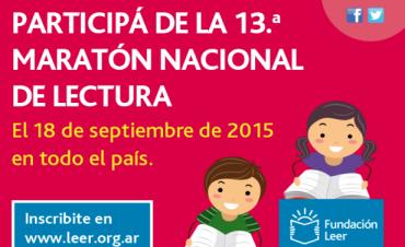 Maratón de Lectura 2015: Se desarrolla hoy el encuentro literario en la Biblioteca Municipal