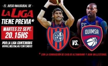 San Lorenzo-Quimsa abren la Liga Nacional
