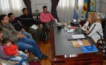 Visita protocolar: Intendente Giroldi recibió a las nuevas Autoridades de la Sociedad de Fomento de La Esperanza