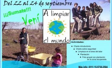 """La Asociación Patrimonio Natural invita a participar de las Jornadas de """"A limpiar el Mundo"""""""
