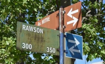 La calle Rawson vuelve a ser doble mano entre Alem y Avenida Mitre