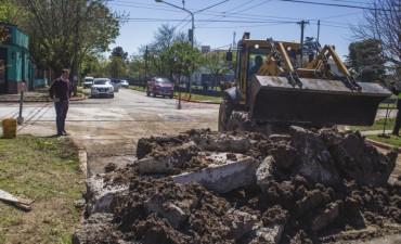 La intersección de San Martín y Sivori ya está abierta al tránsito