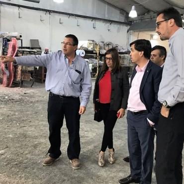 El ministro de Producción de la Provincia visitó la ciudad