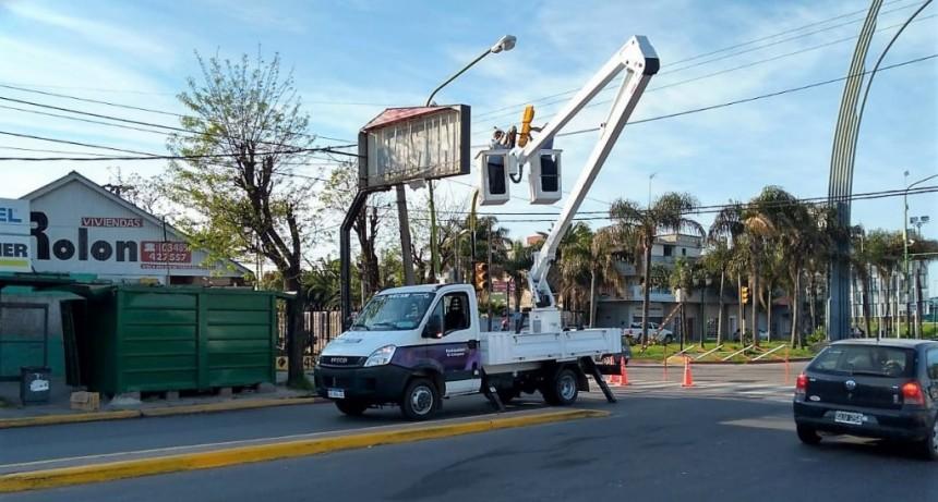 La Dirección de Electromecánica realiza tareas en la ciudad