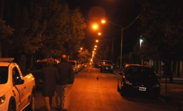 La calle Salmini fue testigo del encendido