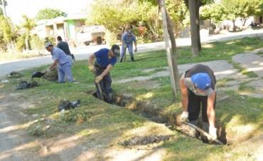 Obras Públicas realiza tareas del Programa Mantenimiento Integral en barrio Dallera