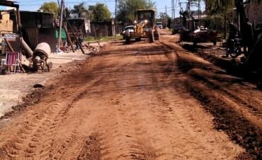 Nuevas tareas de mantenimiento en calles del barrio Lubo