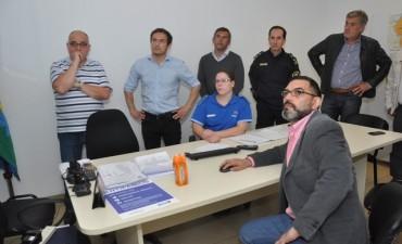 Abella constató el inicio del funcionamiento de la plataforma digital de seguridad