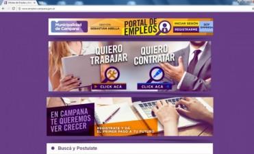 El Municipio presentó el Portal de Empleo Campana