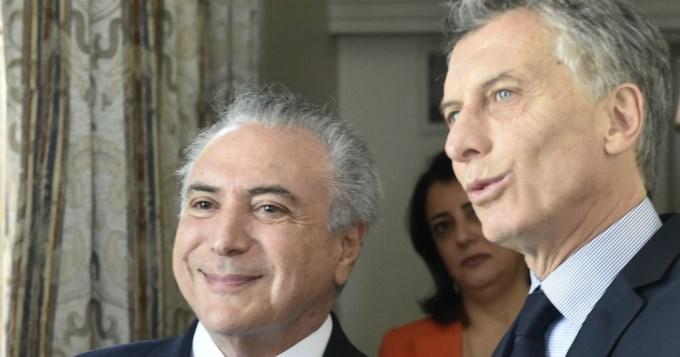 Macri y Temer pidieron flexibilizar el Mercosur